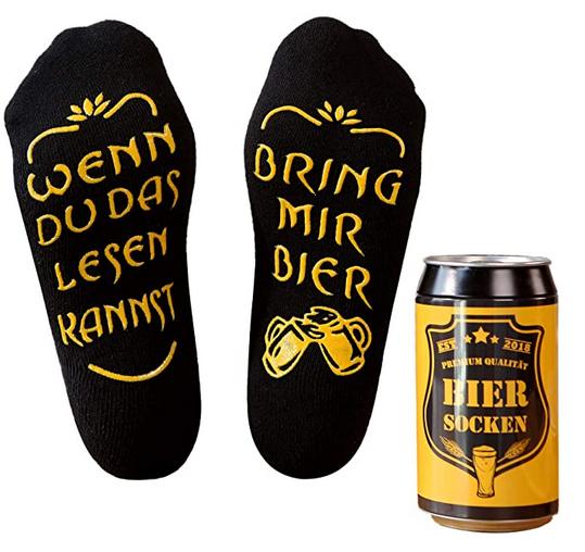Bunte Socken Bier lustig